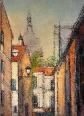 Strada in Montmartre/Street in Montmartre